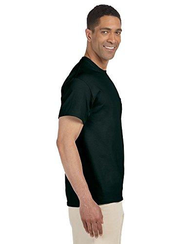 Gildan Adult Short Sleeve T-Shirt w/pocket in Forest Green - X-Large (Gildan T-shirt Pocket Chest)