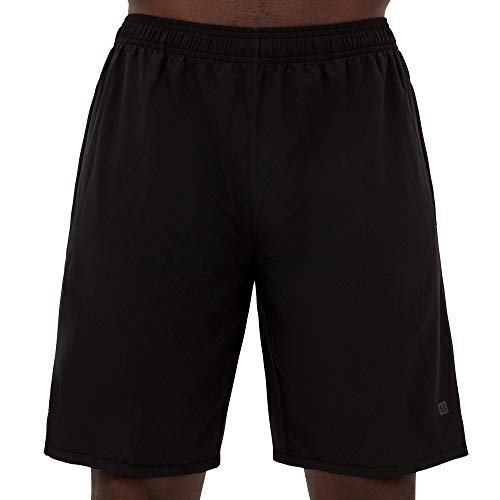 Layer 8 Men's Hybrid All Purpose Woven Athletic Shorts 7 and 9 Inch Inseams (Medium, Black 9 Inch Inseam)