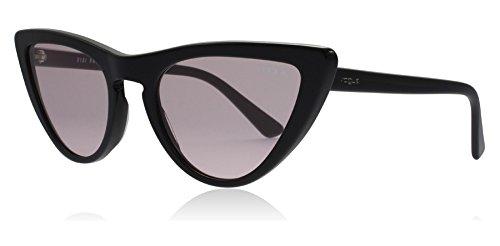 VOGUE Women's Plastic Woman Cateye Sunglasses, Black, 54.01 mm