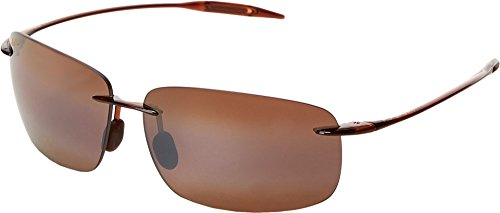Maui Jim Breakwall H422-26 | Polarized Rootbeer Rimless Frame Sunglasses, HCL Bronze Lenses, with Patented PolarizedPlus2 Lens Technology ()