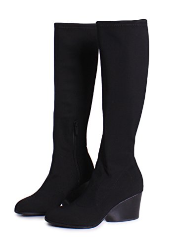 Donald J Pliner Patsy Crepe Elastic Knee High Boots in Black Size 7.5 by Donald J Pliner