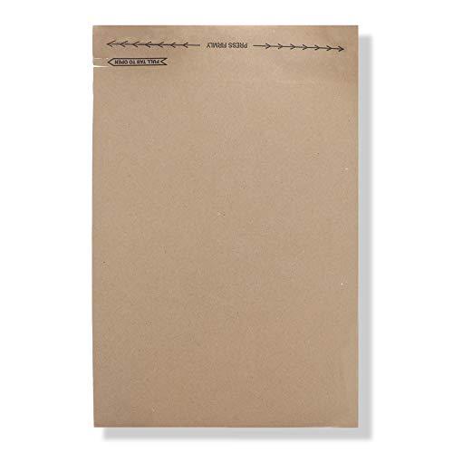 Jiffy Rigi Mailers, Fiberboard, Size 5, 10-1/2 x 14 Inches, 150 per Carton, Kraft