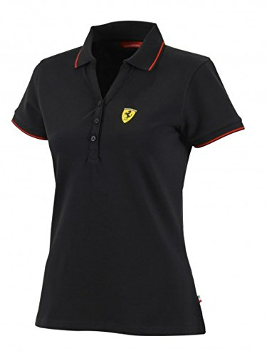 Scuderia Ferrari Formula 1 Women's Black Classic Polo F1 (Medium)