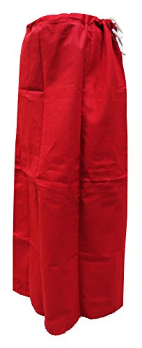Coton sous Femme Peticoat PEEGLI Inskirt Rouge Jupe Readymade Saree Jupons pour 5XAOOUwq