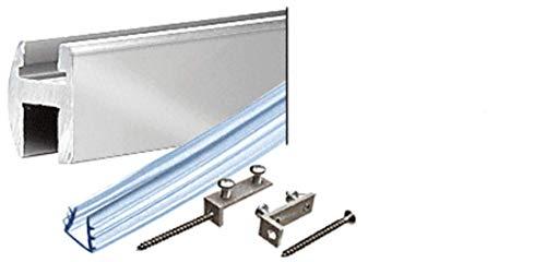 CRL Brite Anodized Deluxe Shower Door Header Kit - 66 in long