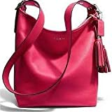 COACH Legacy Leather Duffle in Silver / Pink Scarlet 19889