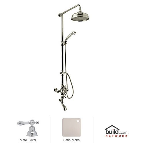 - Rohl AC414L-STN A4212Xmapcto Cisal Shower System with Exposed Thermostatic Valve, Shower Head, Satin Nickel
