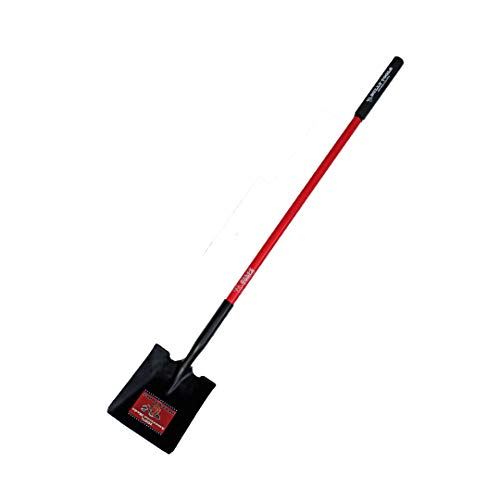 Bully Tools 82525 14 Ga. Square Point Shovel. Fiberglass Long Handle.
