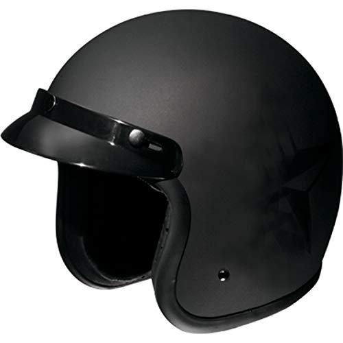 Fulmer, AF-V2X26015, Adult Open Face Motorcycle Helmet - DOT Approved - Flat Black, 2XL
