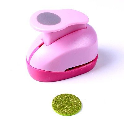 Do4U Multi-Selection Crafts Punch 1-Inch Paper Punches DIY Handmade Punchers Tag Maker Eva Foam Maker (Circle) (1 Circle Punch)