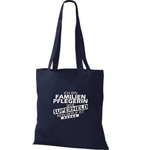 Para Shirtstown Azul Marino Algodón Tela De Bolso Mujer IZwq8ZxBS