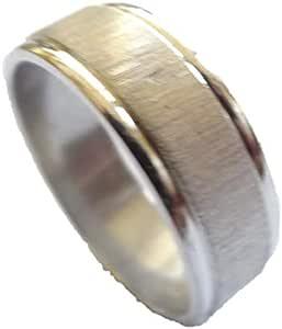 خاتم معدن للرجال، فضي - 1164 - 26 - 4