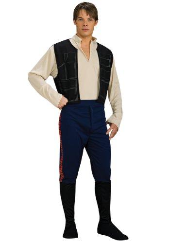 Three's Company Costumes (Rubie's Costume Star Wars Han Solo, Multicolored, One Size Costume)