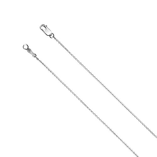 (1mm Platinum Solid Cable Chain Necklace, 20 Inch )