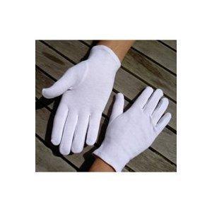 kimberleystore Pack of 5 Pairs Soft-Hand Cotton Gloves (White)