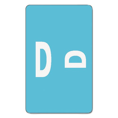 Smead - Alpha-Z Color-Coded Second Letter Labels, Letter D, Light Blue, 100/Pack 67174 (DMi PK