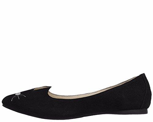 Black Shoes Flats T Women's K U Sophistakitty Black TqcAzR0wBA