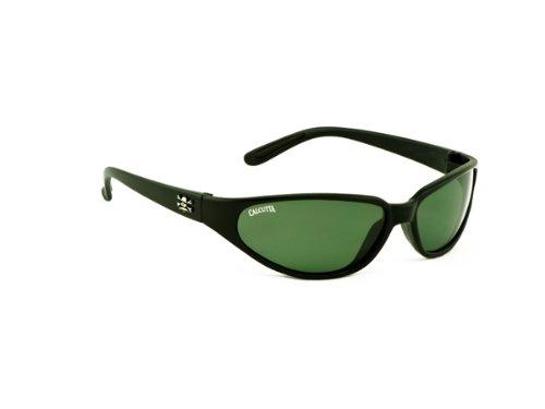 Calcutta Carolina Sunglasses (Black Frame w/ Blue Mirror Lenses)