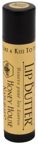 Honey House Naturals Lip Butter Tube Vanilla (Jojoba Oil Conditioning Lip Balm)