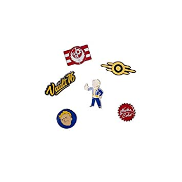 Fallout Fallout 76 Set of 6 Metal Pin Badges Collectors (Pi601678Fal) Llavero, 16 cm, Multicolor (Multicolour)