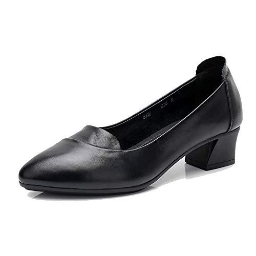 888bdf39 Zapatos para mujer : Zapatos baratos: zapatos de mujer ,, hombres -  Fastylike FLYRCX Las señoras del talón Cuadrado Acentuado Boca Baja Zapatos  de Cuero ...