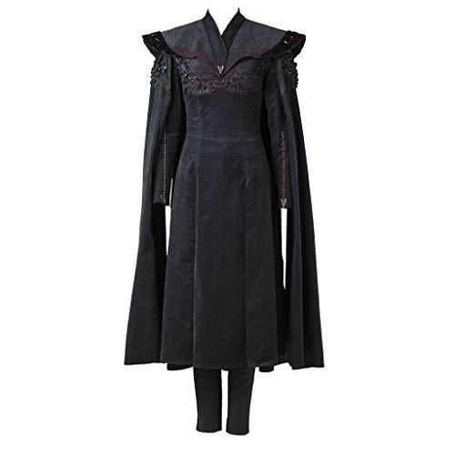 CosplayDiy Women's Dress for Game of Thrones VII Daenerys Targaryen Cosplay cm Black -