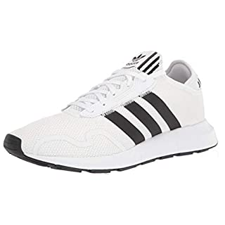 adidas Originals Men's Swift Essential Sneaker, White/Black/White, 9.5