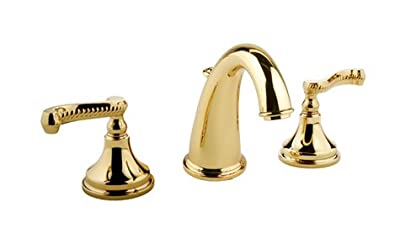 Meridian 20093 Double Handle Widespread Bathroom Faucet Finish: 18K Gold
