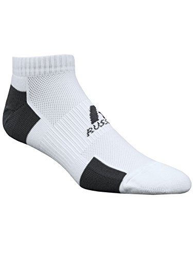 (Russell Athletic Adult Performance Low Cut-XDE, White/Stealth, M (Pack of 3))