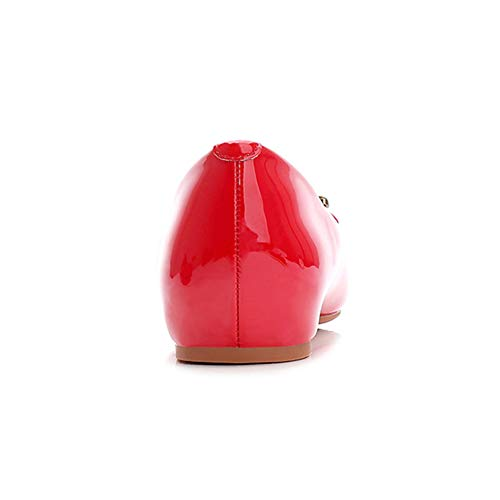 Informales De Metal Suave Las Cabeza Perezosos Cuadrada Calzados Zapatos Señoras Antideslizantes Inferior Black Hebilla Charol gqw5TwdUW