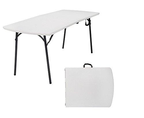 COSCO Diamond Series Banquet Folding Table, 6 x 30, White (Renewed) (Banquet Table Series Folding)
