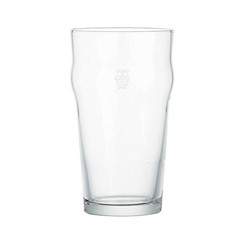 Authentic British Imperial Pint nonic Glass with Etched Seal - set of 4., Garden, Lawn, Maintenance ()