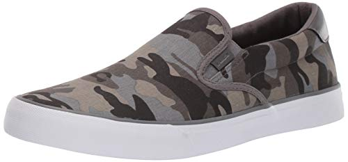 Lugz Men's Clipper Sneaker, Grey Gargoyle Camo/White, 9.5 D US