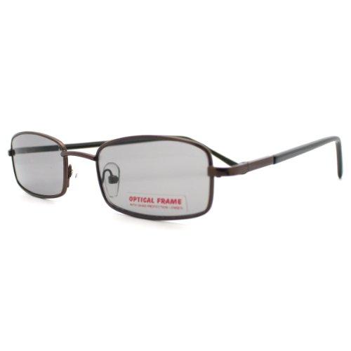 Black Lens Metal Frame Narrow Rectangular - Sunglasses Narrow Rectangular