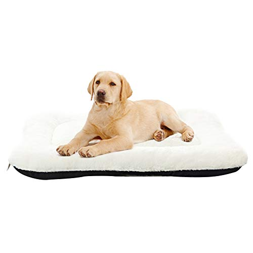 ANWA Dog Bed Pet Cushion Crate Mat Soft Pad Washable and Cozy for Medium Large Dog