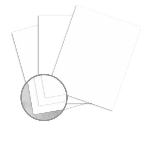 Manila File White Card Stock - 26 x 40 in 80 lb Cover Extra Smooth 100 per Package by Leader Paper Products Manila File