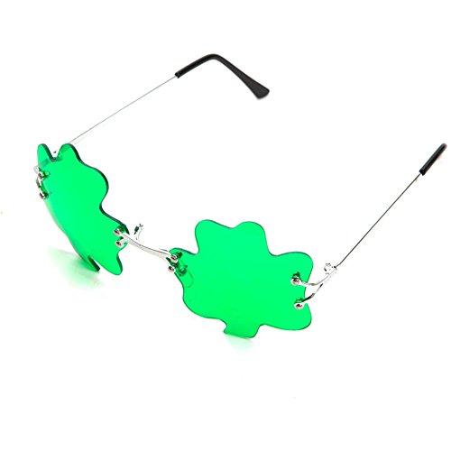 Patricks Green Shamrock Clover Sunglasses