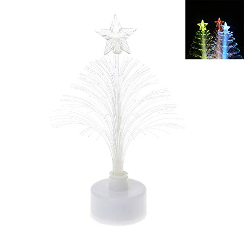 7 Color Christmas Xmas Tree Fiber Optic Led Night Light in US - 6