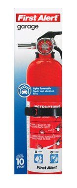 First Alert FE10GO Garage/Workshop Fire Extinguisher, Red (Fire Extinguisher Small)