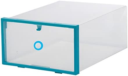 ZXD123 Caja de Zapatos Caja de Zapatos de plástico Marco Verde Caja de Zapatos Transparente Caja de Almacenamiento Caja de Zapatos a Prueba de Polvo Estante de Zapatos Creativo 29 x 21 x 12cm 6pc