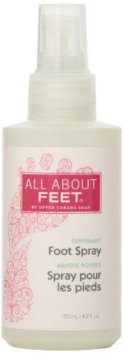 Upper Canada Soap & Candle All About Feet Peppermint Revitalizing Foot Spray, Purse Size, 4.2 ounce Spray Bottle - Canada Spray