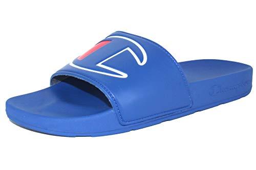 Champion Men's IPO Slide Sandal (9 D(M) US, Royal/Royal)