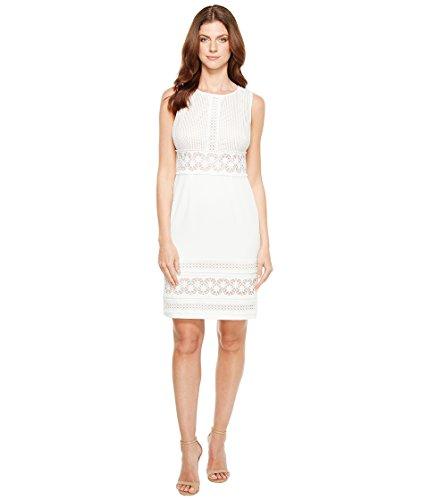 債権者疑い垂直[アドリアナパペル] Adrianna Papell レディース Stretch Crepe Sheath Dress with Lace Mixing Details Sleeveless Dress ドレス [並行輸入品]