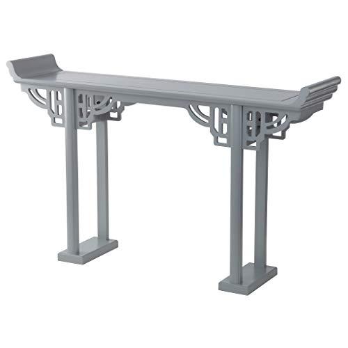 Design Toscano MH510694 Forbidden City Asian Console Table: Grey, Gray