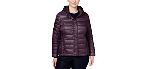 32 DEGREES Plus Size Hooded Packable Down Puffer Coat, Eggplant, 1X, 58.22 (1X)]()