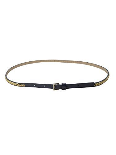 Hyde Collection Womens Gunmetal Grey Gold Skinny Pyramid Stud Belt M - Skinny Pyramid Belt