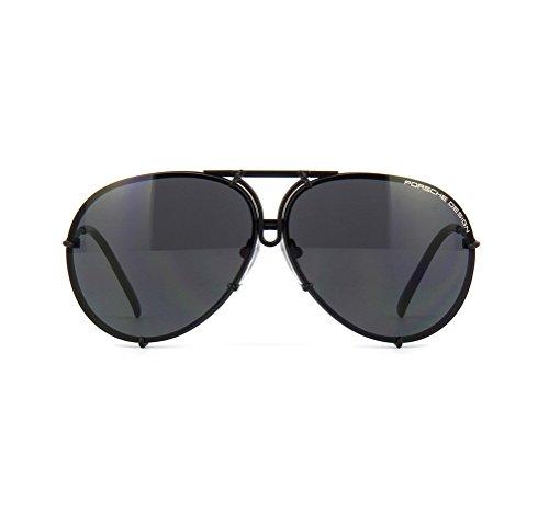 83a9b4db2cb4 PORSCHE DESIGN P8478 D Aviator Sunglasses Black Matte Frame Size 69 + Extra  Lens