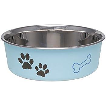 Loving Pets Coastal Bella Bowl for Dogs Large Aqua Sea