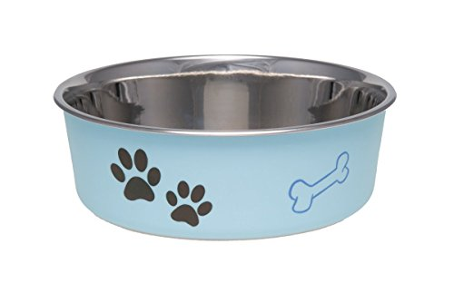 Loving Pets Bella Bowl for Dogs, Small, Murano Blue