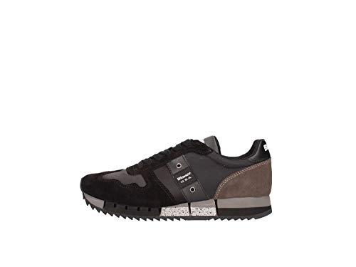 Sneakers 39 Tessuto Usa Donna Nero Camoscio taglia Blauer Melrose E In P1Awq5